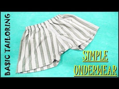 Simple Underwear Cutting And Stitching (Type 1) / Basic Tailoring/ Underwear Making