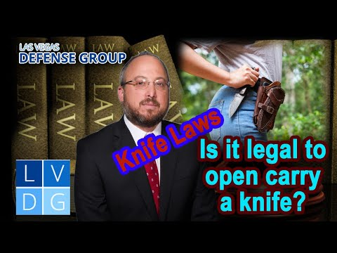 Is it legal to open carry a knife in Nevada?