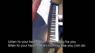 Roxette - Listen to your heart (Piano Cover with Lyrics) [Full HD!]