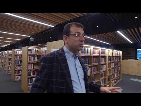Ekrem İmamoğlu: Beylikdüzü Yaşar Kemal Kütüphanesi'nde
