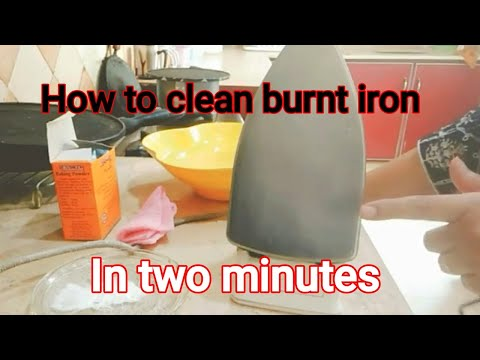 How to clean a burnt iron in two mints,very easy tip of the day