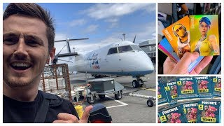We became nerds & did a FORTNITE UNBOXING on a PLANE!