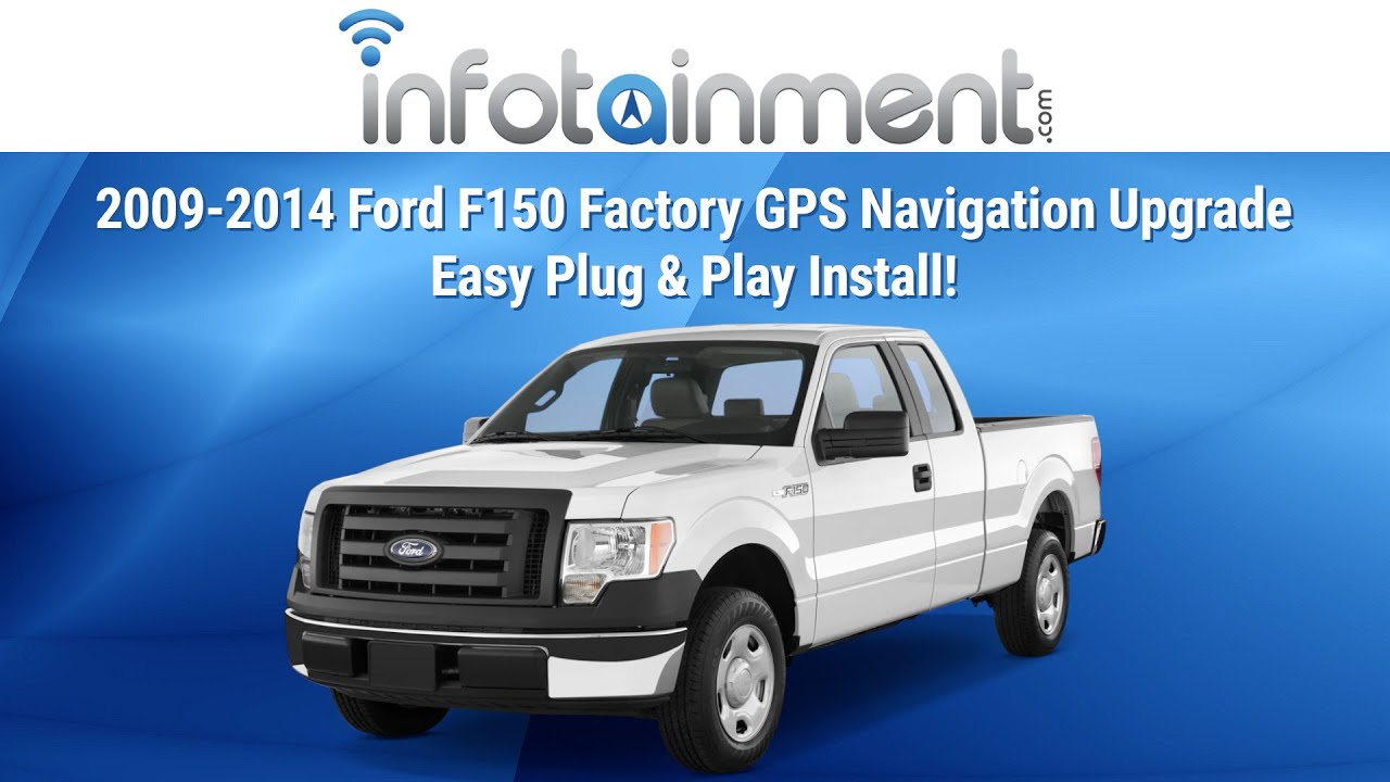 2009-2014 ford f150 factory gps navigation upgrade - easy plug & play  install! - youtube