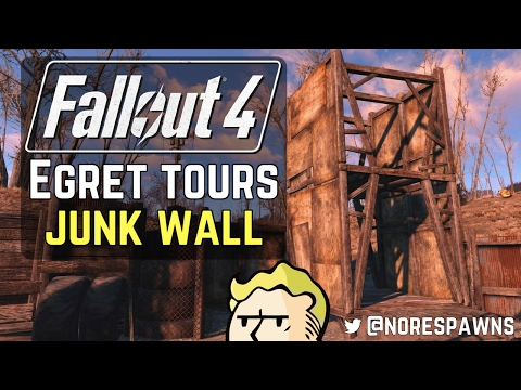 Fallout 4 - Egret Tours Marina Courtyard Junk Wall