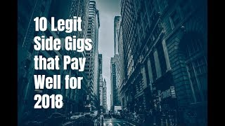 10 Legit Side Gigs that Pay Well for 2018