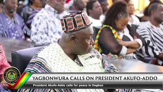 Yagbonwura Calls on President Akufo-Addo