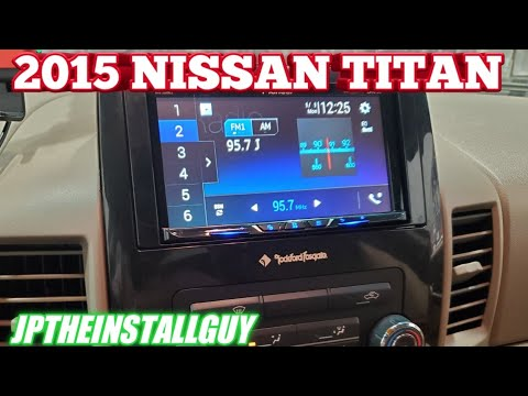 2015 Nissan Titan Radio Removal And Pioneer Touchscreen Install