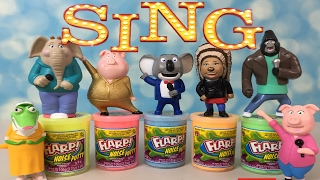 sing characters play in flarp watch them dive right in flarp noise putty