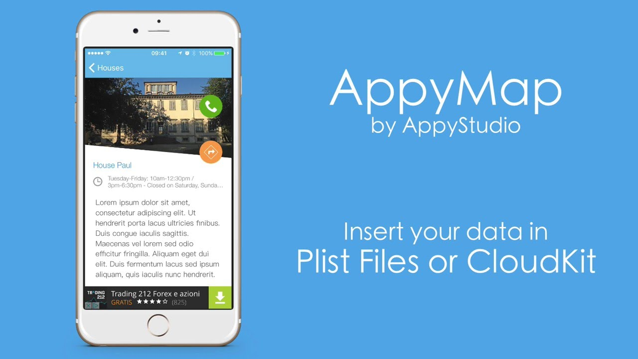 appyMap - XCode iOS Map App Template for Location and City Guide ...