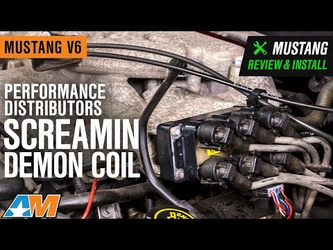 1994-2000 Mustang V6 Performance Distributors Screamin Demon Coil Review & Install