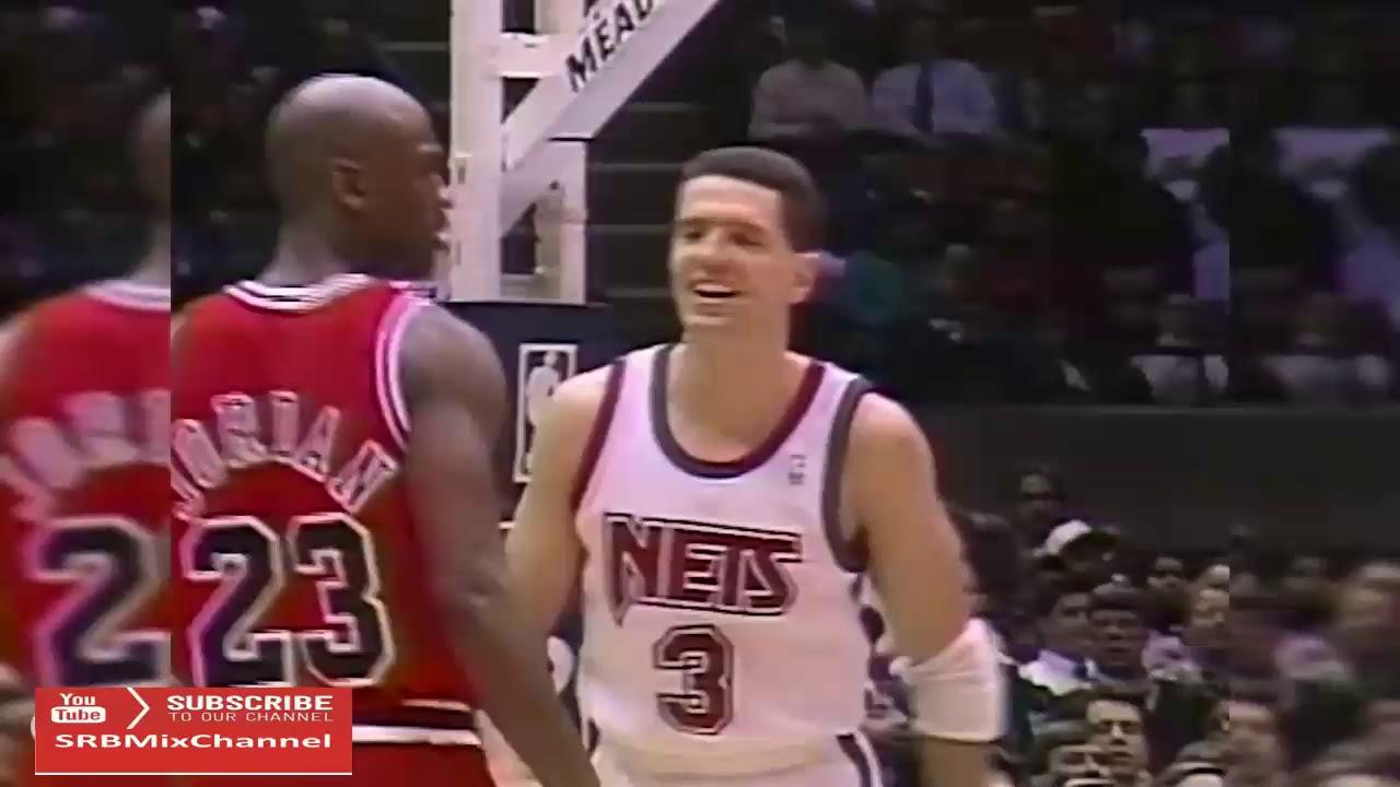 hotel hostilidad Anoi  Dražen Petrović Last Duel with Michael Jordan 1993 03 02 40pts - YouTube