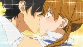 cutest anime kiss ever Haru x Shizuku Tonari no Kaibutsu kun