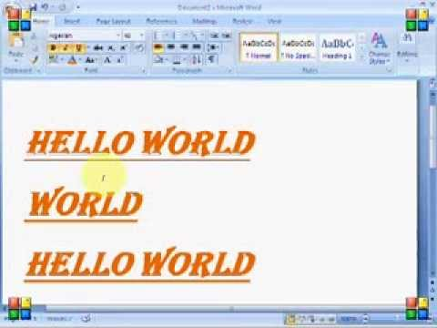 Part 2 Of MS Word 2007 In Hindi Cut Copy Paste Format Painter