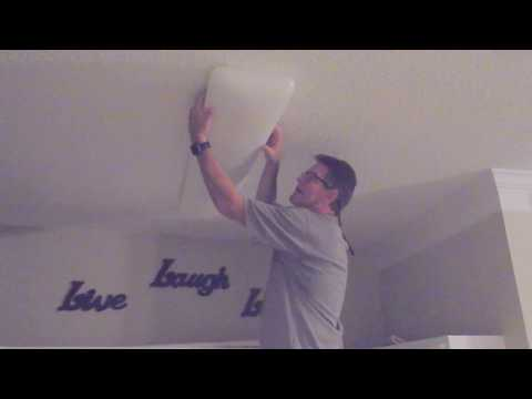 How to replace fluorescent light bulbs - DIY step by step tips/tricks