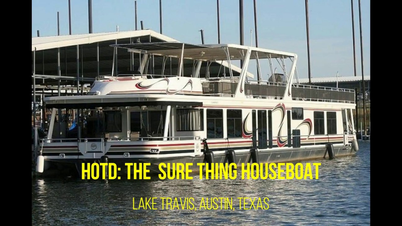 The Sure Thing Houseboat at Lake Travis in Austin, Texas