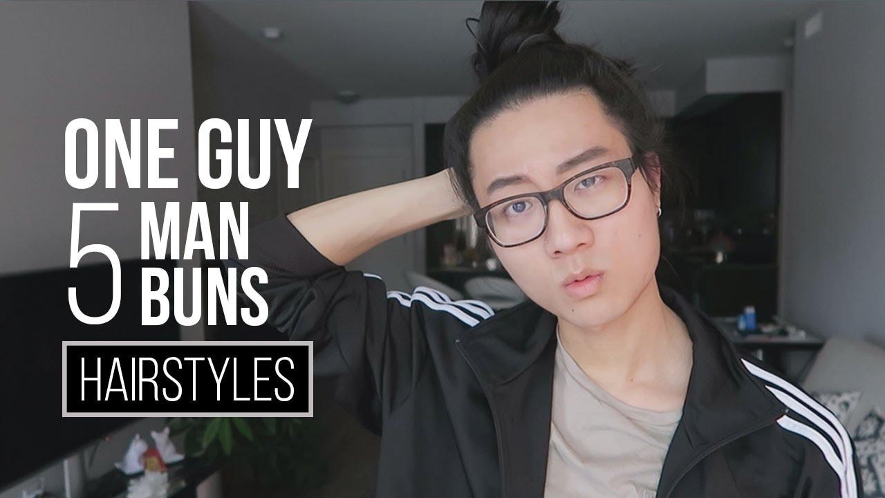Man Bun Mens Long Hairstyle Tutorial