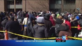 Hundreds line up for Section 8 vouchers