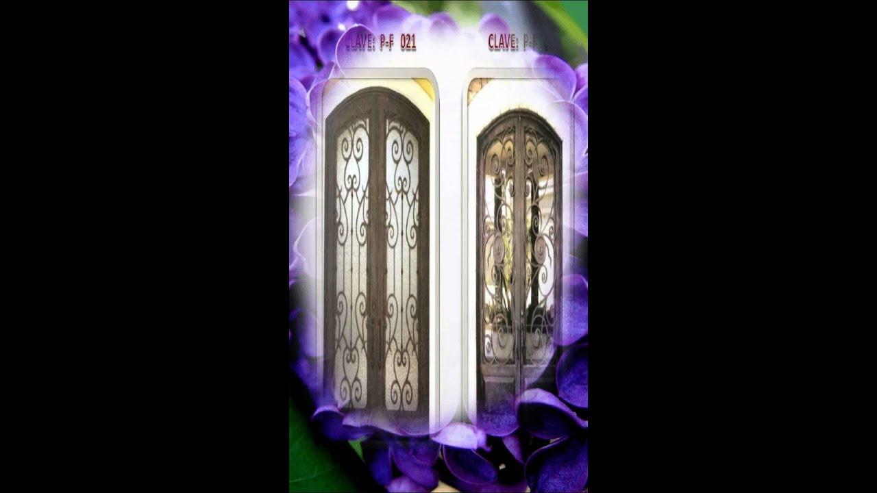 Hierro forjado espino puertas art sticas youtube for Puertas de hierro forjado