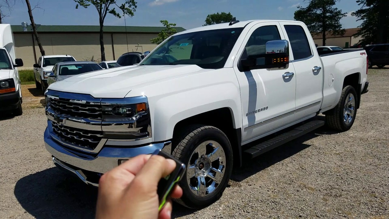 2017 chevy silverado 1500 ltz double cab summit white full review youtube. Black Bedroom Furniture Sets. Home Design Ideas