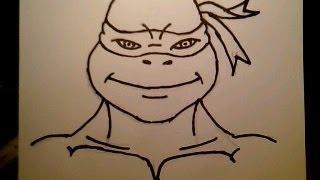 How To Draw Teenage Mutant Ninja Turtles Movie Easy & Simple Fun 2 Draw