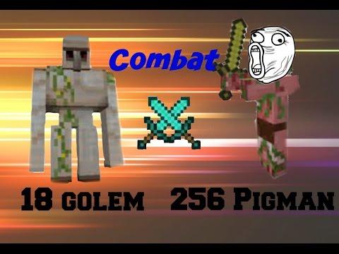 Minecraft combat cochon zombie vs golem de fer youtube - Minecraft golem de fer ...