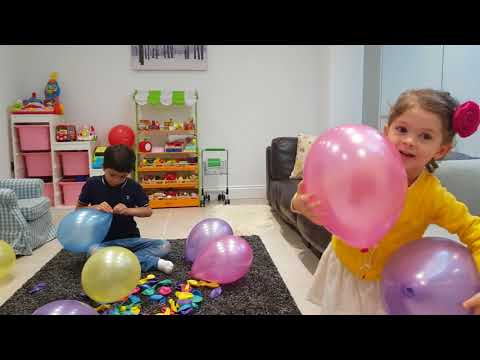 Learn Colors with Pop Balloons-Funny Challenge for Kids