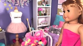 American Girl Doll Morning Routine - Unicorn Bedroom