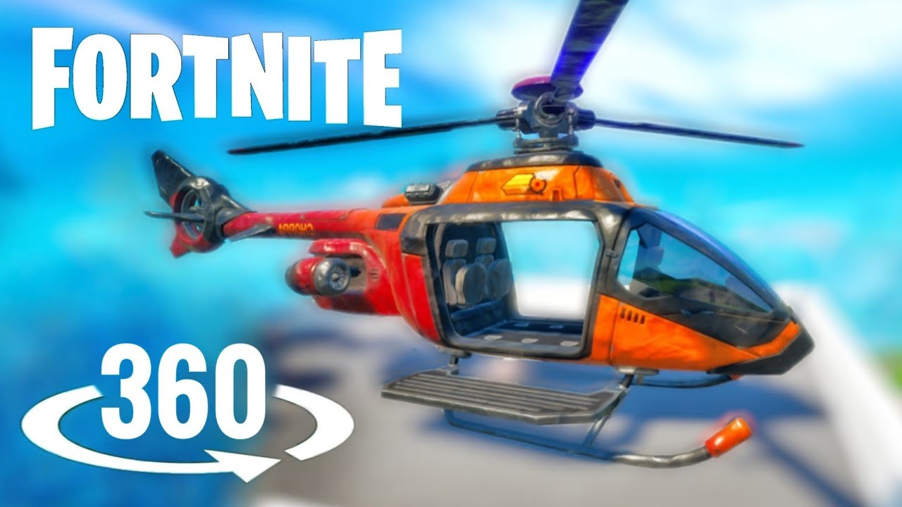 🚁 360 video Helicopter Flight VR Virtual Reality Fortnite Season 3 Chapter 2 vehicle Choppa
