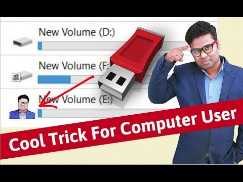 👌 Set Your Photo On USB Pendrive | Cool Trick For Computer User