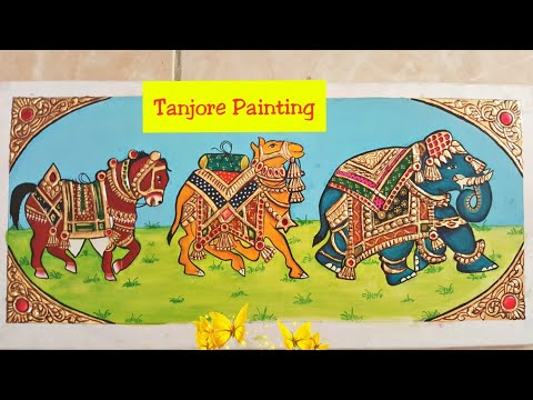 DIY|| Tanjore Painting || Easy Way To Make Tanjore Painting