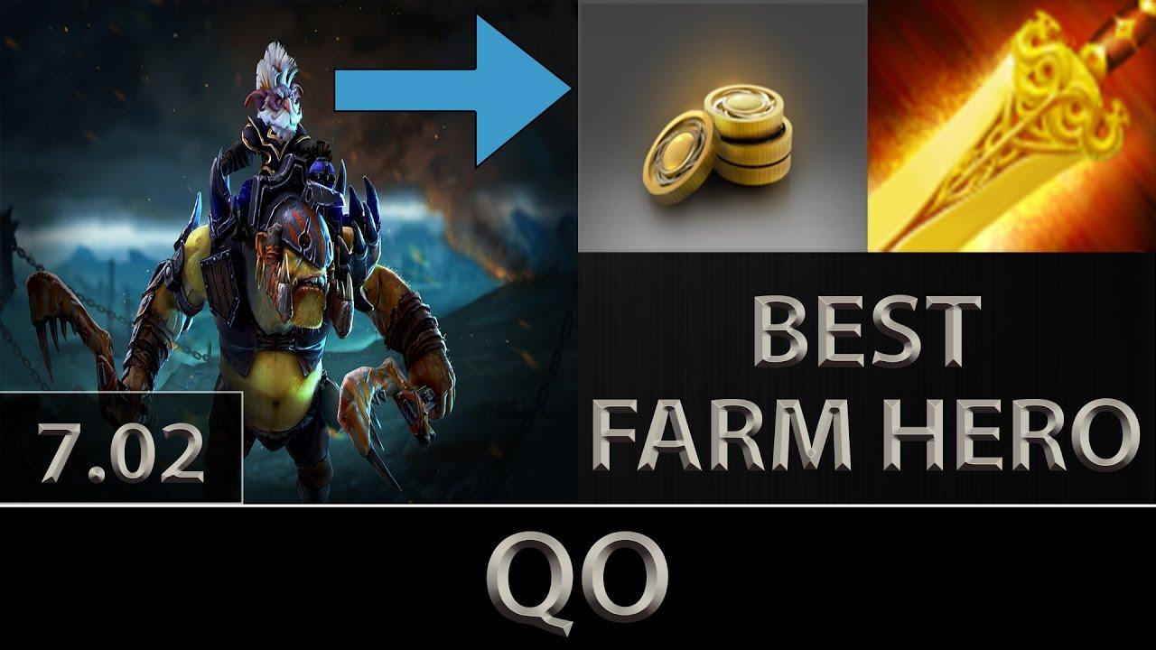 Qo Alchemist Fast Farm Best Farming Hero Dota 2 7 02 Youtube