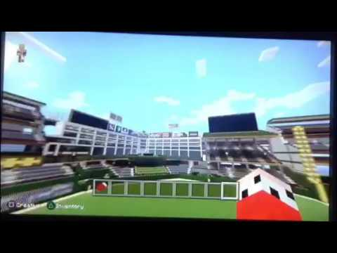 Texas rangers baseball stadium on minecraft
