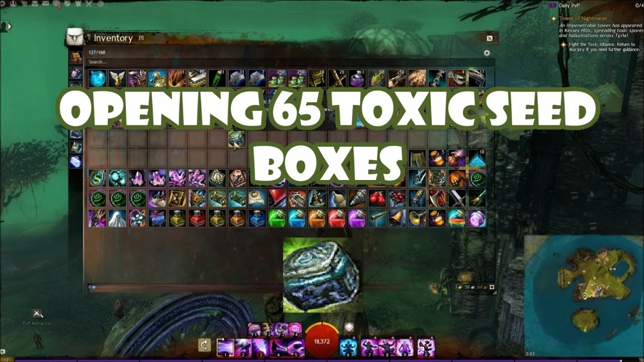 Guild Wars 2 Opening 65 Toxic Seed Boxes - YouTube