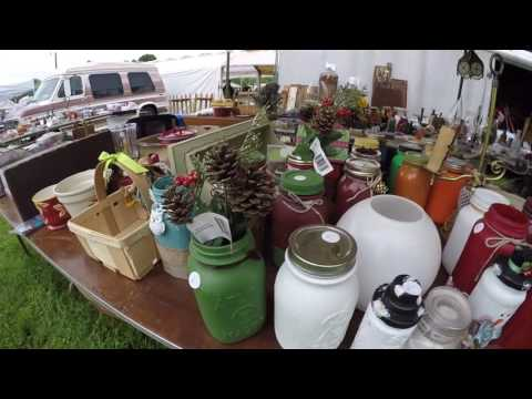 Flea Market Buying Adventures - Antiques - Farm Implements and Golf Balls?!