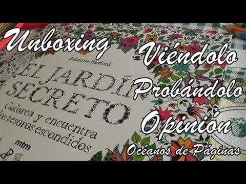 El jardin secreto johanna basford unboxing vi ndolo for El jardin secreto filmaffinity