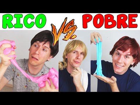 RICO VS POBRE FAZENDO AMOEBA / SLIME #2 | TIO LUCAS