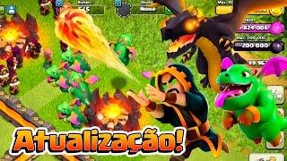 NOVO DRAGÃO NÍVEL 6, MAGO NÍVEL 7 E MUITO MAIS!! ATUALIZAÇÃO CLASH OF CLANS