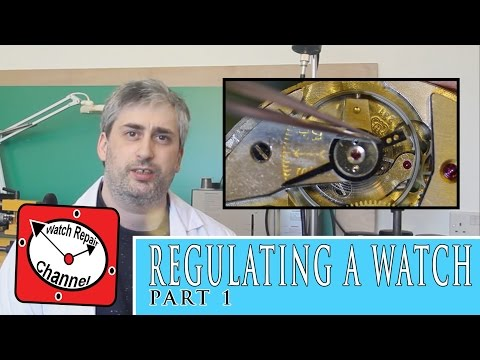 How to regulate a mechanical watch - watch repair tutorial