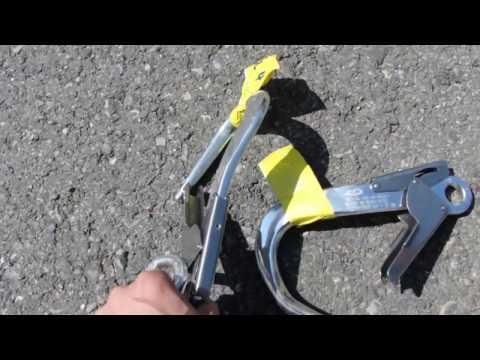 Неправильное использование карабинов (соединительных элементов) ГОСТ Р ЕН 362