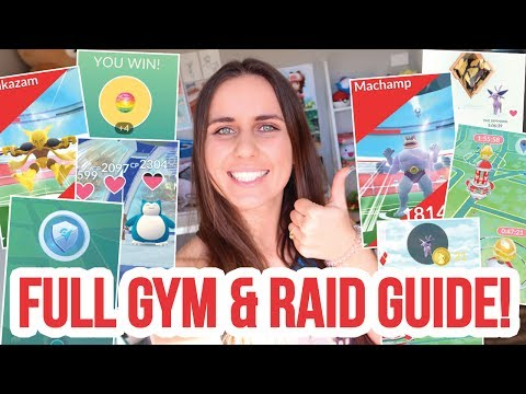 HUGE GUIDE TO NEW GYMS AND RAIDS! COINS + BATTLES & MORE - P