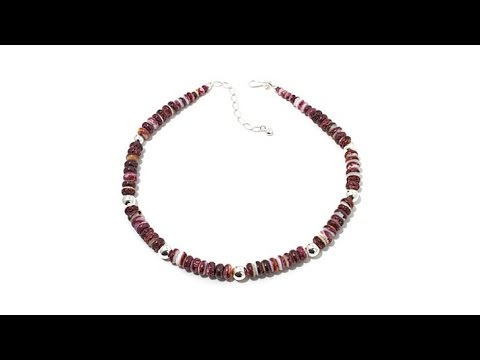 Jay King Purple Spiny Oyster Shell Beaded Necklace