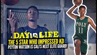 The 5 Star Who Impressed Kevin Durant! Peyton Watson From UNKNOWN to 5 Star In 6 MONTHS! Day In Life