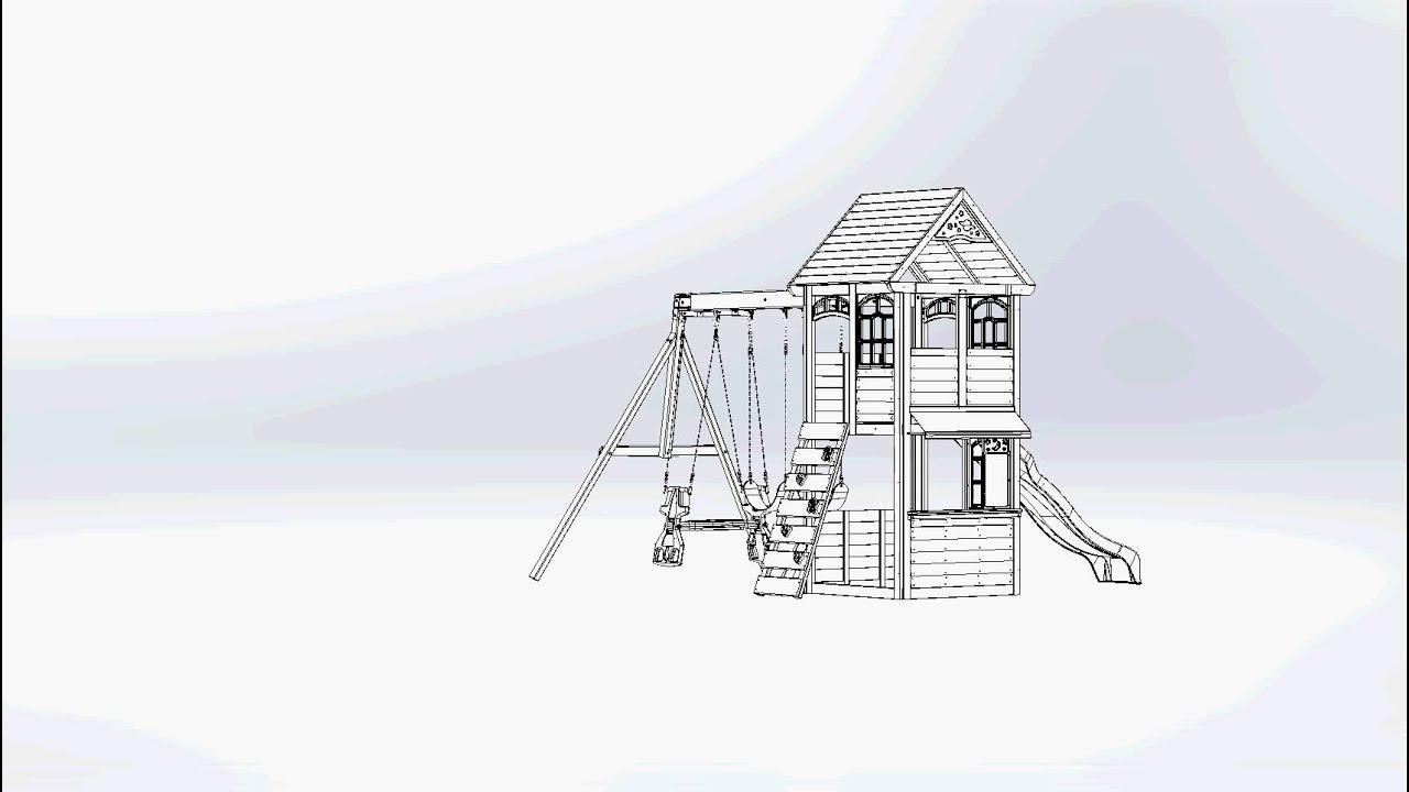 Big Backyard Premium Brooksville Wooden Play Set Swing Set Youtube