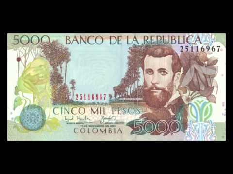 All Colombian Peso Banknotes - 2001 to 2012 Issues