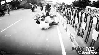 Cow Road accident ###by the bike racer