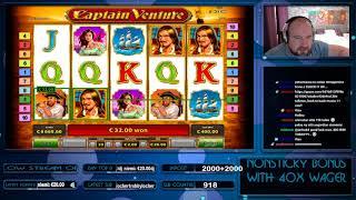 Big Bet!! Super Big Win From Captain Venture!