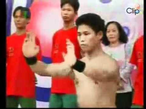 [ ★ ] ☜- Kungfu Lâm Sơn Động -☞ [ ★ ] - Công phá tảng bê tông nặng 470kg