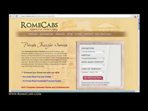 Step by Step Guide: How to book Port Transfers on RomeCabs.com