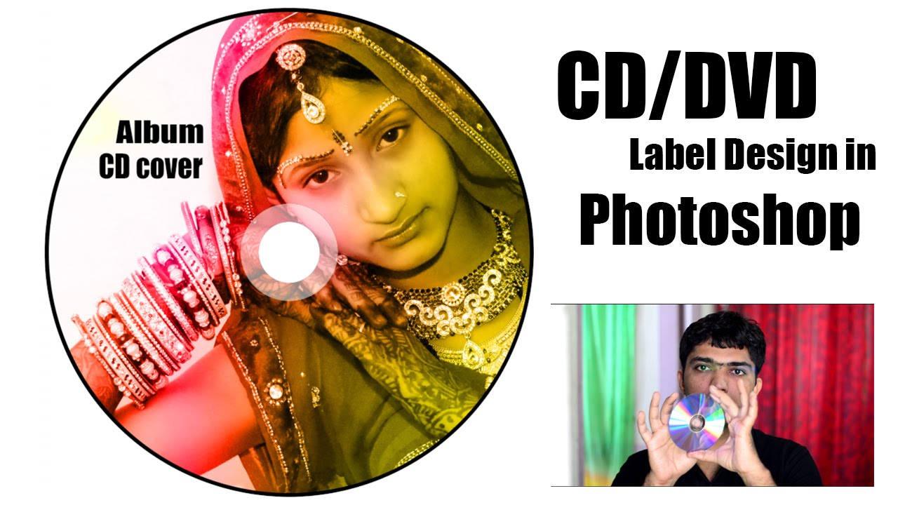 how to design cd dvd label cover in adobe photoshop youtube
