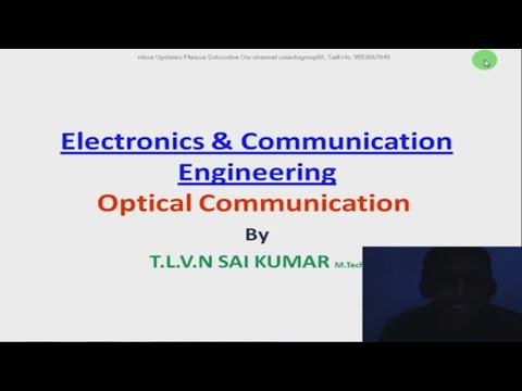 Optical Communication Syllabus Lecture 01